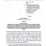 Surat Edaran Perpanjangan kembali PPKM Kota Bekasi